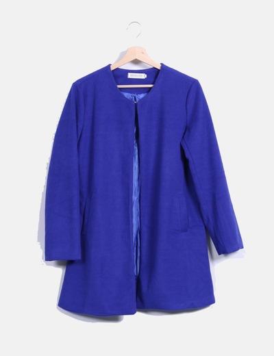 Abrigo de paño azul klein  NoName