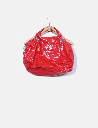 Bolso rojo acharolado Koima