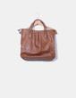 Bolso marrón cremallera gold H&M