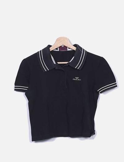 Armani Jeans Camisa polo preta (desconto de 94%) - Micolet 82a72ffc53b81