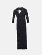 Vestido maxi encaje negro NA-KD