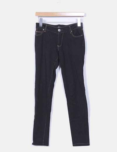 Jeggings negro efecto denim Stradivarius