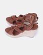 Sandales marron compensées Castañer