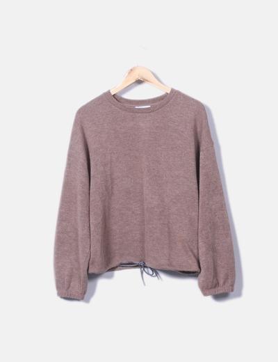 Conjunto deportivo tricot marrón