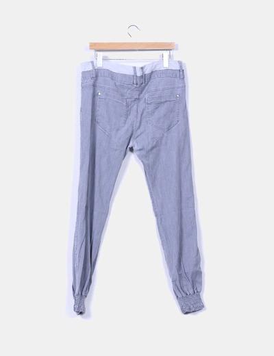 Pantalon baggy gris