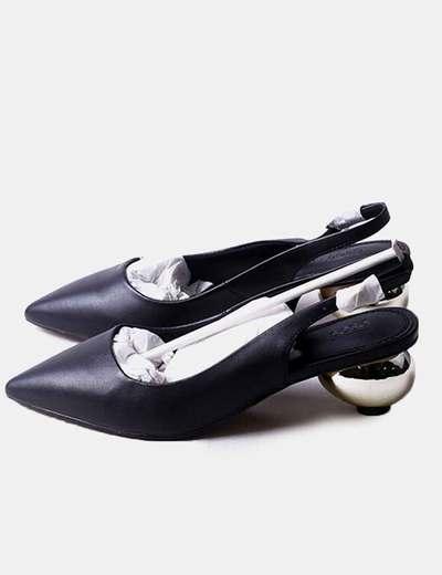 Chaussure toe avec motif à talon Asos