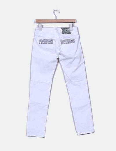 Jeans denim blanco recto