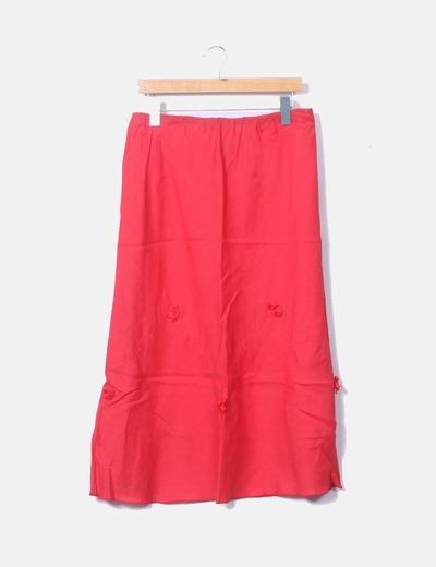 Conjunto de falda midi y camisa