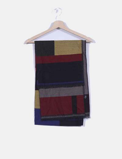 Foulard negro cuadros multicolor NoName