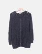 Jersey tricot gris troquelado Suncoo
