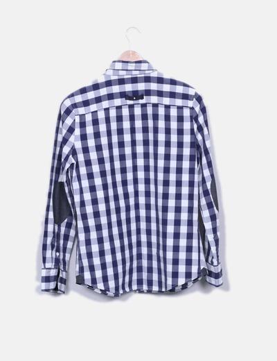 Camisa de cuadros bicolor