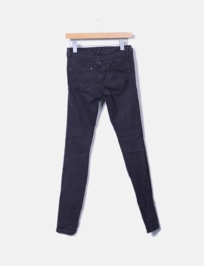 Jeans denim gris marengo ripped