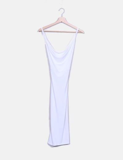 Vestido midi blanco Missguided