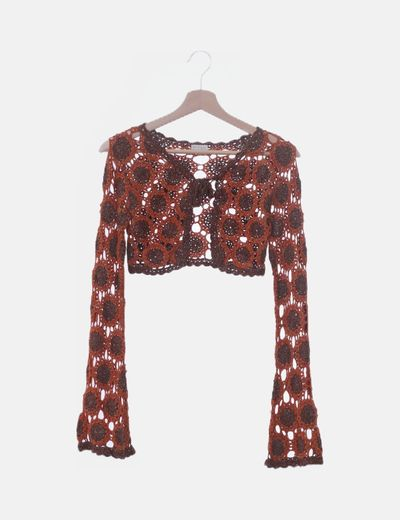 Torera crochet bicolor