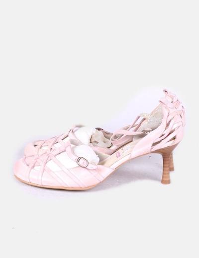 Zapatos tiras rosa baby