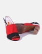 Sandalia de tacón bicolor destalonada Beauty Girl,s