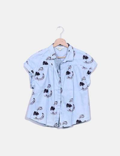 Camisa azul gatos Pepa Loves