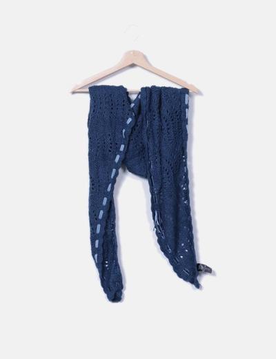 Bufanda azul petroleo H&M