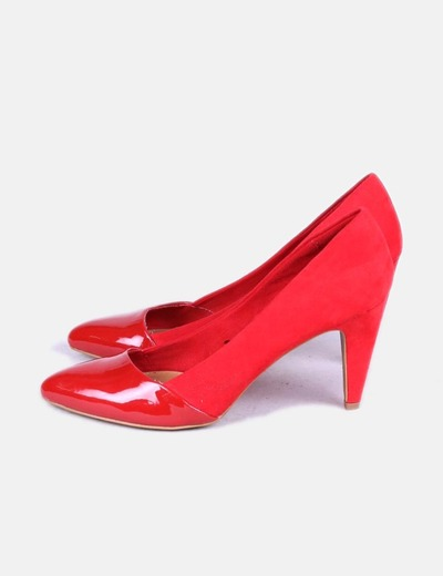 Zapatos Zapatos Doble Textura Doble Rojos bf6Y7gy