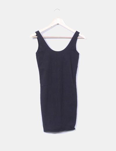Vestido midi negro básico FB Sister