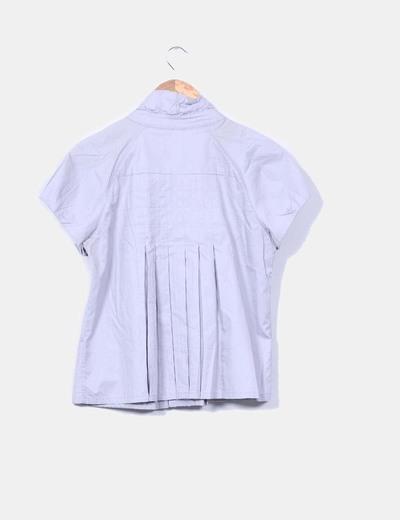 Chaqueta gris manga corta