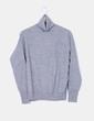 Maglione lavorato a maglia grigio con collo alto Zara