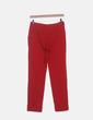 Pantalón rojo pitillo Mango