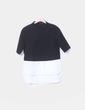 Camiseta combinada negra y blanco Zara