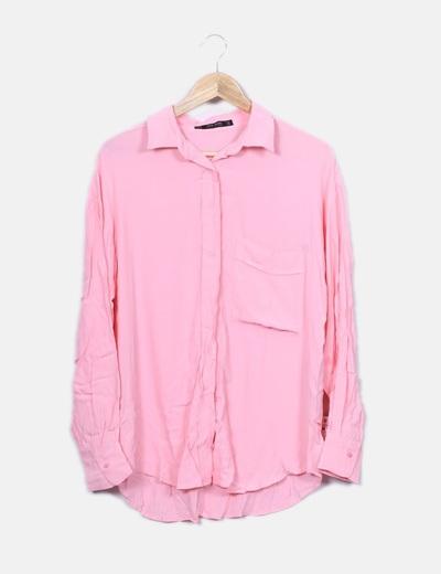Camisa fluida rosa