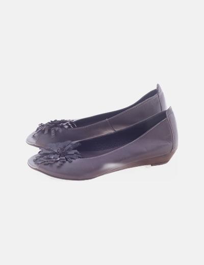 Bailarina marrón peep toe