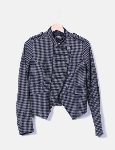 Blazer texturizada bicolor Zara