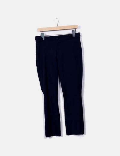 Pantalon bleu marine droit Mango