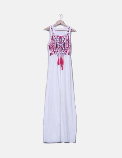5f4c774a8 Choies Maxi vestido blanco estampado étnico (descuento 49%) - Micolet