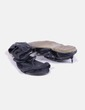 Sandales noires tressées Suiteblanco