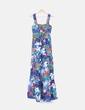 Maxi vestido print multicolor de tirantes NoName