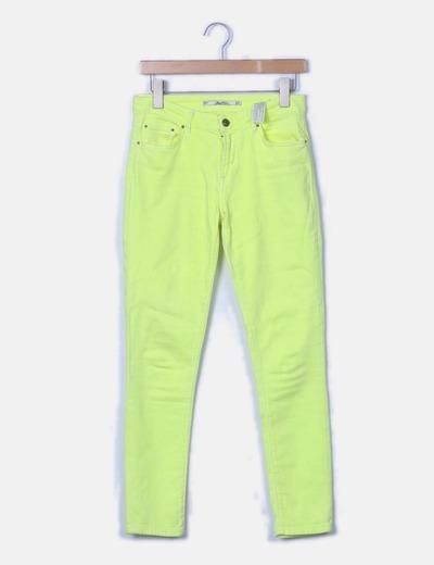 Pantalón denim amarillo pitillo
