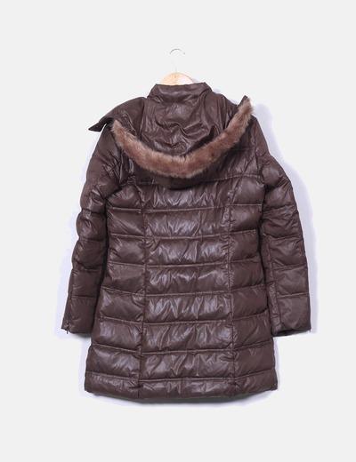 4b68122573a93 Caroll Abrigo de plumas marrón chocolate (descuento 87%) - Micolet