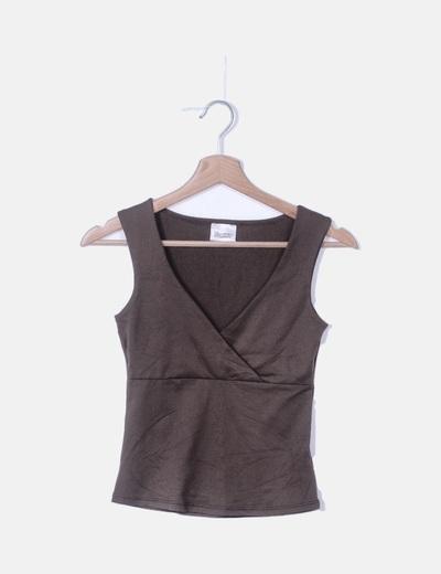 Camiseta marrón de lycra