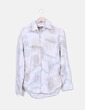 Camisa blanca estampado floral celio