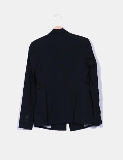 Blazer negro largo