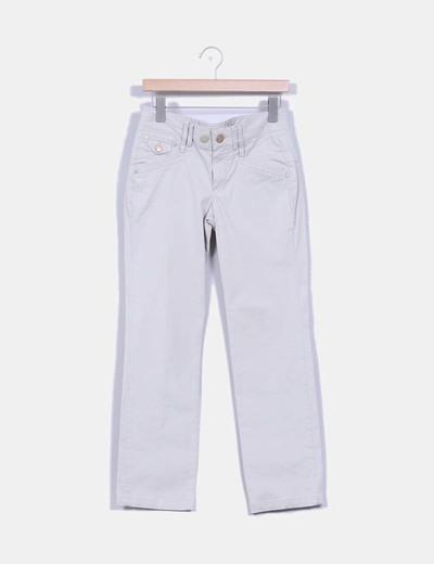 Pantalón beige pata recta