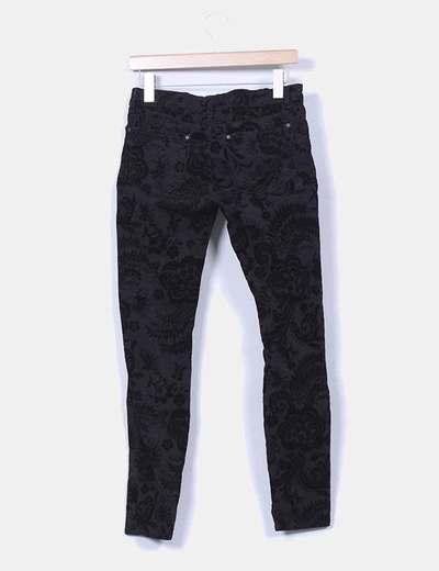Pantalon negro texturizado terciopelo