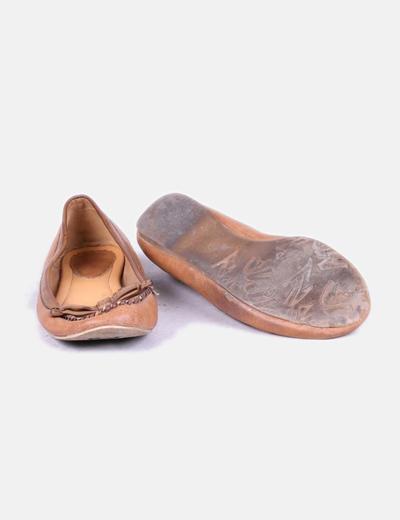 Zapato plano marron