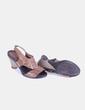 Sandalia marrón con cuña de madera Fiordi