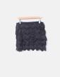 Minifalda negra flecos H&M