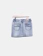 Falda mini denim efecto lavado Carambola