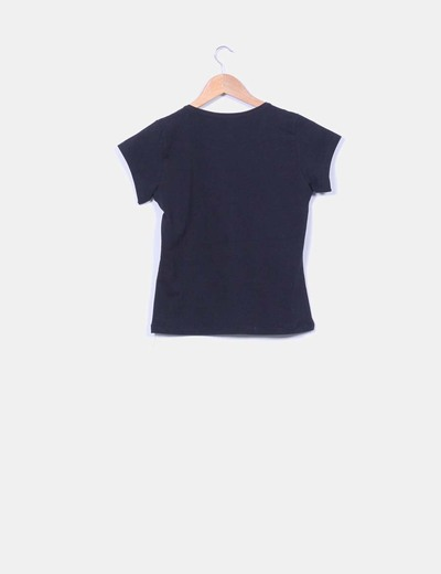 Camiseta negra paillettes