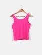 Camiseta deportiva rosa de tirante ancho Tenth