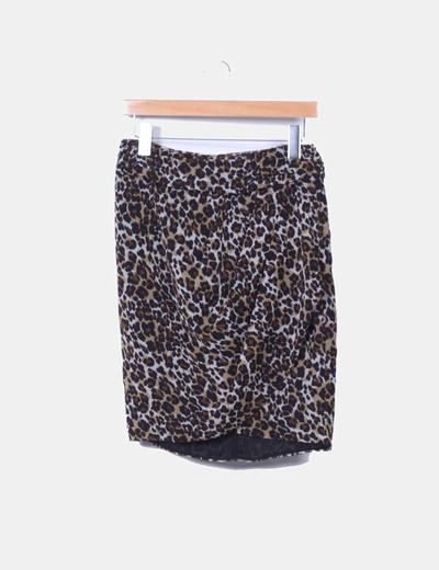 Falda animal print Mango