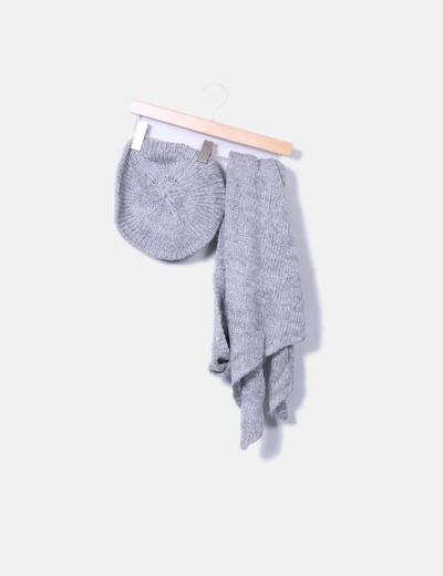 Sfera Chapeau gris et en maille de consigne écharpe (réduction 83 ... a984d042725